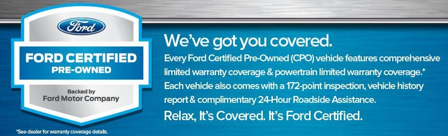 Ford Certified Pre Owned >> Certified Pre Owned Vehicles